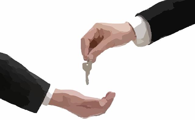 podávání klíče