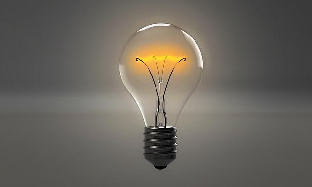 světlo z žárovky