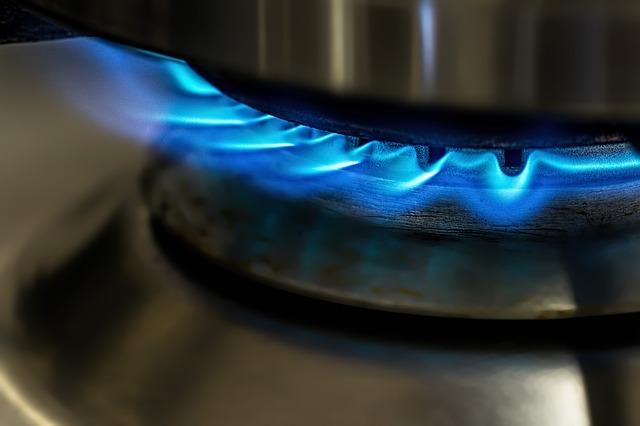plamen plynového sporáku